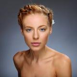 Het meisje van de schoonheid Portret van mooie jonge vrouw Royalty-vrije Stock Afbeelding