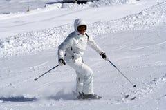 Het meisje van de ski. Royalty-vrije Stock Afbeeldingen