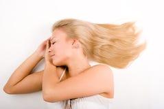 Het meisje van de slaap Stock Fotografie