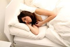 Het Meisje van de slaap Royalty-vrije Stock Fotografie