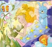 Het meisje van de slaap Vector Illustratie