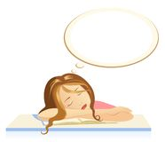 Het meisje van de slaap stock illustratie