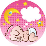 Het Meisje van de slaapbaby stock illustratie