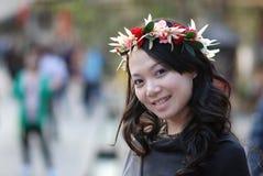 Het meisje van de slinger Stock Foto's
