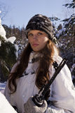 Het meisje van de sluipschutter Royalty-vrije Stock Foto