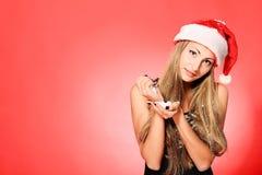 Het meisje van de sneeuw Stock Foto's