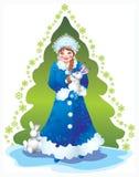 Het meisje van de sneeuw Royalty-vrije Stock Afbeelding