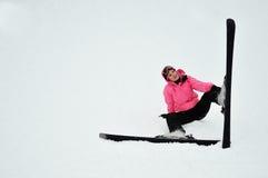 Het meisje van de sneeuw Royalty-vrije Stock Foto