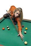 Het meisje van de snooker royalty-vrije stock afbeelding