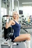 Het meisje van de sport Stock Foto's