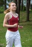 Het meisje van de sport stock afbeeldingen