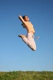 Het meisje van de sprong royalty-vrije stock fotografie