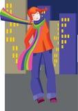 Het meisje van de stad Stock Foto
