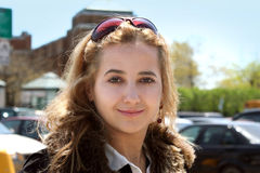 Het meisje van de stad royalty-vrije stock foto's