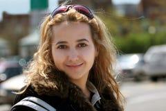 Het meisje van de stad stock afbeeldingen