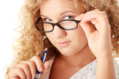 Het meisje van de student Stock Fotografie