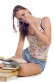 Het meisje van de student Stock Afbeelding