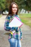 Het meisje van de student Stock Foto
