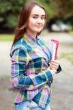 Het meisje van de student Stock Foto's