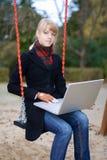Het meisje van de student het bestuderen Stock Foto