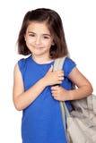 Het meisje van de student met een rugzak stock afbeelding