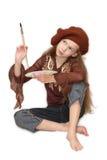 Het meisje van de tekening Royalty-vrije Stock Foto's