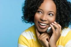 Het Meisje van de telefoon stock afbeeldingen