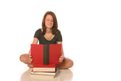 Het meisje van de tiener het bestuderen Stock Afbeeldingen