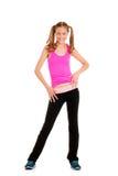 Het meisje van de tiener het dansen zumbatraining Royalty-vrije Stock Foto