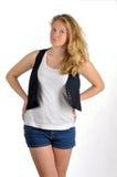 Het meisje van de tiener het debatteren Stock Fotografie