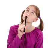 Het meisje van de tiener het denken Stock Fotografie