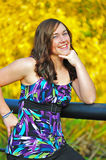 Het meisje van de tiener het glimlachen stock fotografie