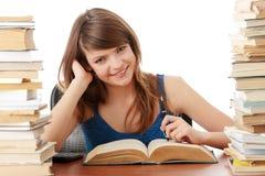 Het meisje van de tiener het leren Royalty-vrije Stock Fotografie