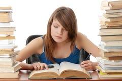 Het meisje van de tiener het leren Stock Fotografie