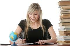 Het meisje van de tiener het leren Royalty-vrije Stock Foto