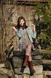 Het meisje van de tiener met een speelse glimlach Royalty-vrije Stock Fotografie