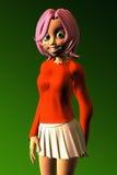 Het Meisje van de tiener met een Toothy Glimlach Royalty-vrije Stock Afbeeldingen