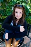 Het Meisje van de tiener met Zonnebril Stock Foto