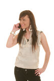 Het meisje van de tiener op cellphone Stock Afbeelding