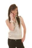 Het meisje van de tiener op cellphone Stock Fotografie