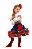 Het meisje van de tiener op een geïsoleerdee achtergrond Royalty-vrije Stock Afbeelding