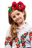 Het meisje van de tiener op een geïsoleerdej achtergrond Royalty-vrije Stock Afbeelding