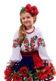 Het meisje van de tiener op een geïsoleerdej achtergrond Royalty-vrije Stock Foto