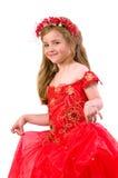 Het meisje van de tiener op een geïsoleerdez achtergrond Royalty-vrije Stock Fotografie