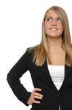 Het meisje van de tiener op formele kledij Stock Foto's