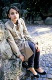 Het meisje van de tiener in openlucht Royalty-vrije Stock Foto's