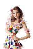 Het meisje van de tiener in partijkleding stock afbeelding
