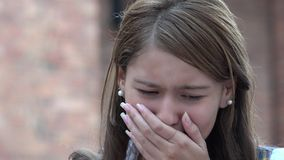 Het meisje van de tiener het schreeuwen royalty-vrije stock foto's