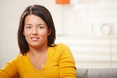 Het meisje van de tiener thuis Royalty-vrije Stock Foto