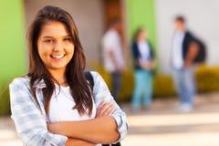 Het meisje van de tienerschool Stock Foto
